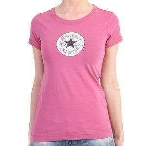 Converse T-Shirt Women - Vintage Patch T 58303 - Fuchsia – Bild 0