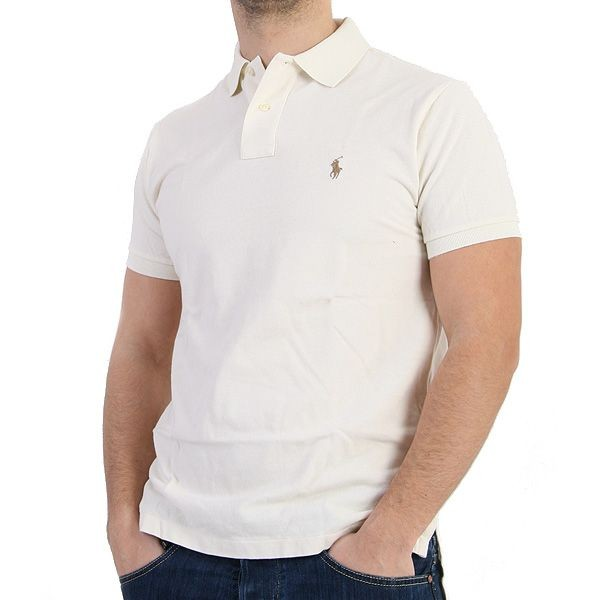 Ralph Lauren Polo Shirt - Basic Polo - Creme – Bild 0