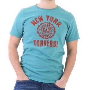 Converse T-Shirt Men - New York University T - Türkis – Bild 0