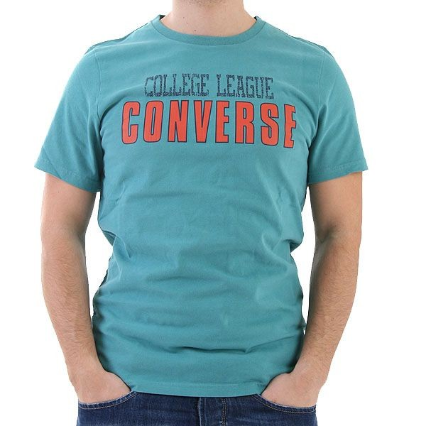 Converse T-Shirt Men - College League T - Grün – Bild 1