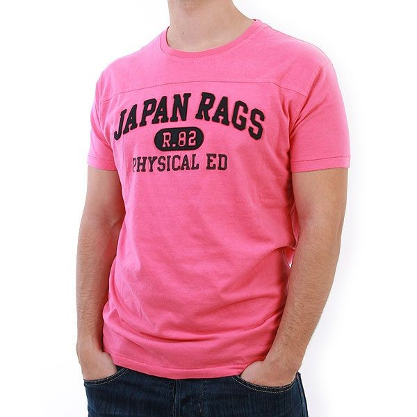 Japan Rags T-Shirt Men - Drink - Pink – Bild 1