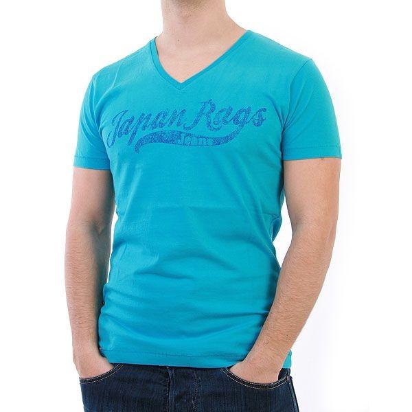 Japan Rags T-Shirt Men - Log - Türkis – Bild 1