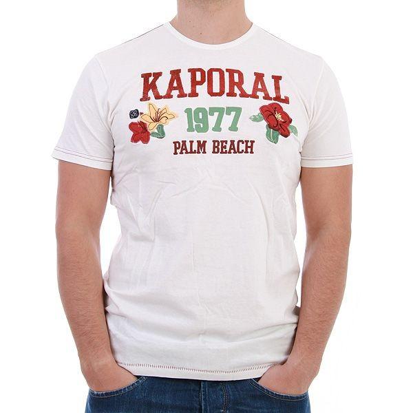 Kaporal T-Shirt Men - Palm - Weiss – Bild 1