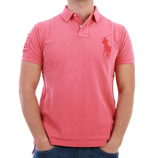Ralph Lauren Polo Shirt - Tonal Big Pony - Lachs – Bild 1