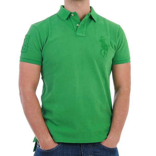 Ralph Lauren Polo Shirt - Tonal Big Pony - Grün – Bild 0