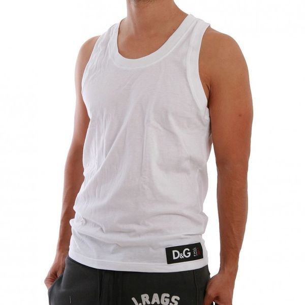D&G Underwear Tank Men - M32539 - White Ansicht