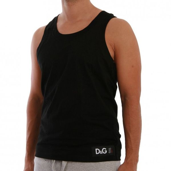 D&G Underwear Tank Men - M32539 - Black – Bild 1