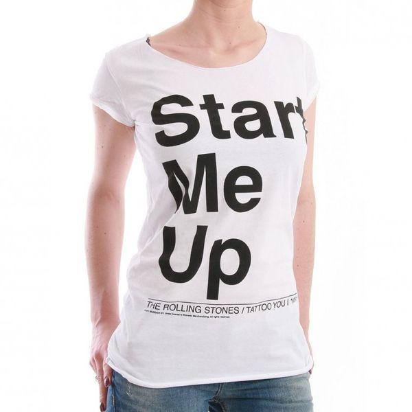 Amplified T-Shirt Women - START ME UP - White – Bild 1