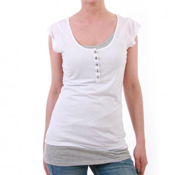 M.O.D Longshirt Women - TS017 - White-Grey Melange – Bild 1