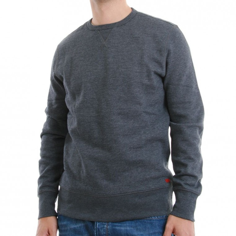 Artikel klicken und genauer betrachten! - - Levi`s Pullover- Modell: 65378-0001- Farbe: Coal- 52% Baumwolle 48% Polyester- Rundhals- figurbetonender Schnitt- angenehmer Stoff- Bündchen- erstklassige Qualität und Verarbeitung- Unser Model trägt Gr. M bei einer Körpergröße von 182 cm inkl. MwSt zzgl. Versand   im Online Shop kaufen