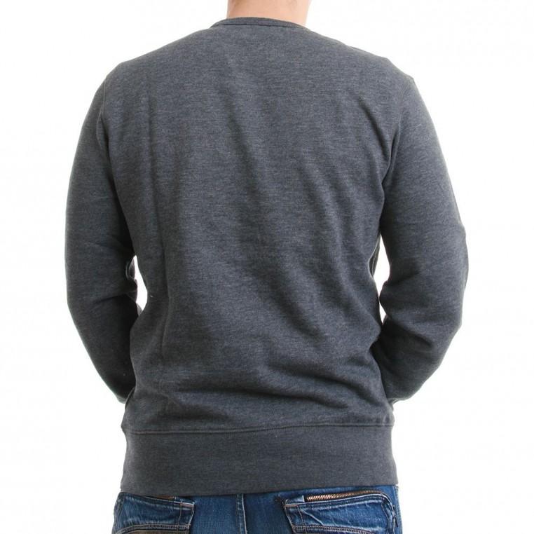 levis pullover men heather fleece 65378 0001 coal herren pullover strick. Black Bedroom Furniture Sets. Home Design Ideas