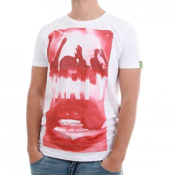 Gio Goi T-Shirt Men - PARTY - White-Red – Bild 1