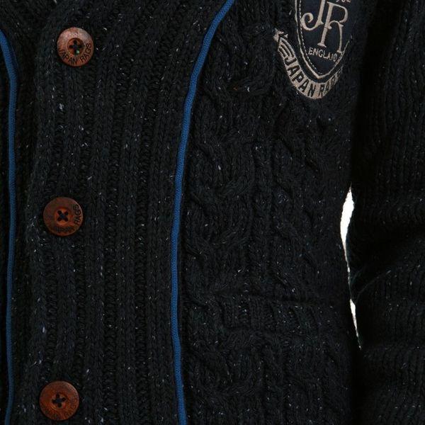 Japan Rags Cardigan Men - BURGOS - Navy – Bild 3