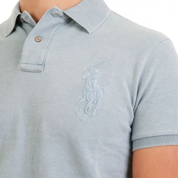 Ralph Lauren Poloshirt Men - TONAL BIG PONY - Light Indigo – Bild 2