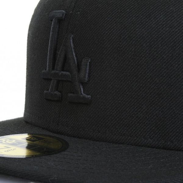 New Era 59Fiftys Cap - LA DODGERS - Black on Black – Bild 2