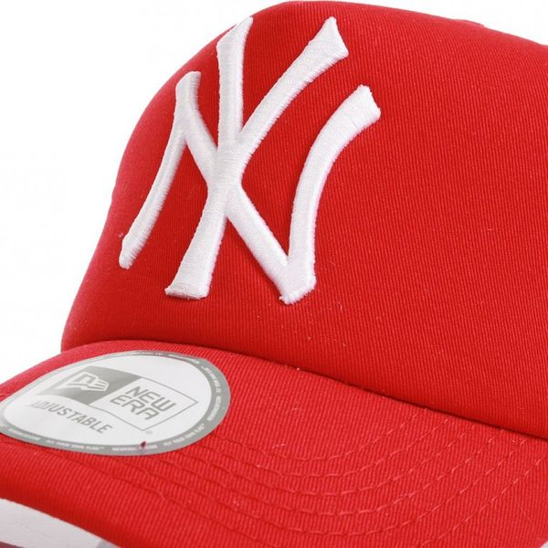 New Era Clean Trucker Cap - NY YANKEES - Scarlet-White – Bild 3