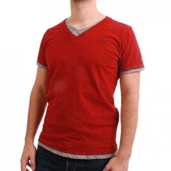 M.O.D T-Shirt Men - WI12-TS777 - Red-Grey Melange – Bild 1