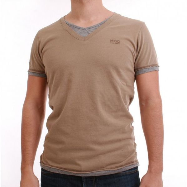 M.O.D T-Shirt Men - WI12-TS777 - Mud-Grey Melange – Bild 1