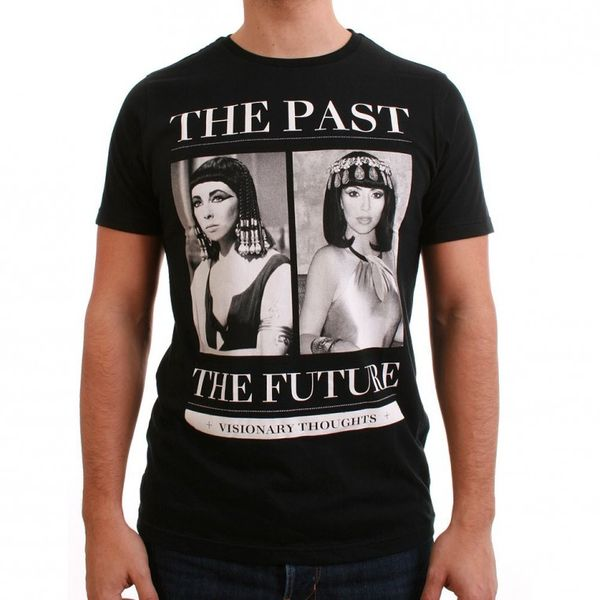 SMS Simple Makes Sense T-Shirt Men - PAST-FUTURE CLEOP - Black – Bild 1