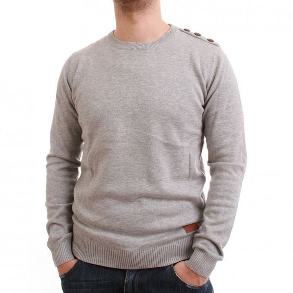 Minimum Pullover Men - GALEN - Grey Melange – Bild 1