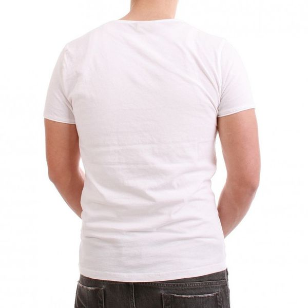 Japan Rags T-Shirt Men - BOSSE - White – Bild 3