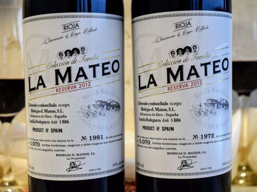 Rioja Reserva 2012 La Mateo