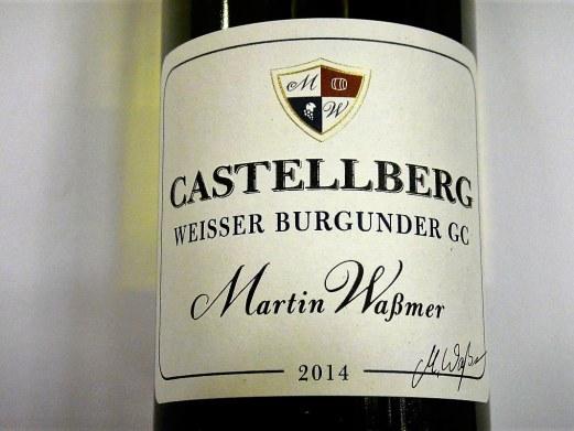 Weißer Burgunder GC 2014 Dottinger Castellberg (Lagerschaden)