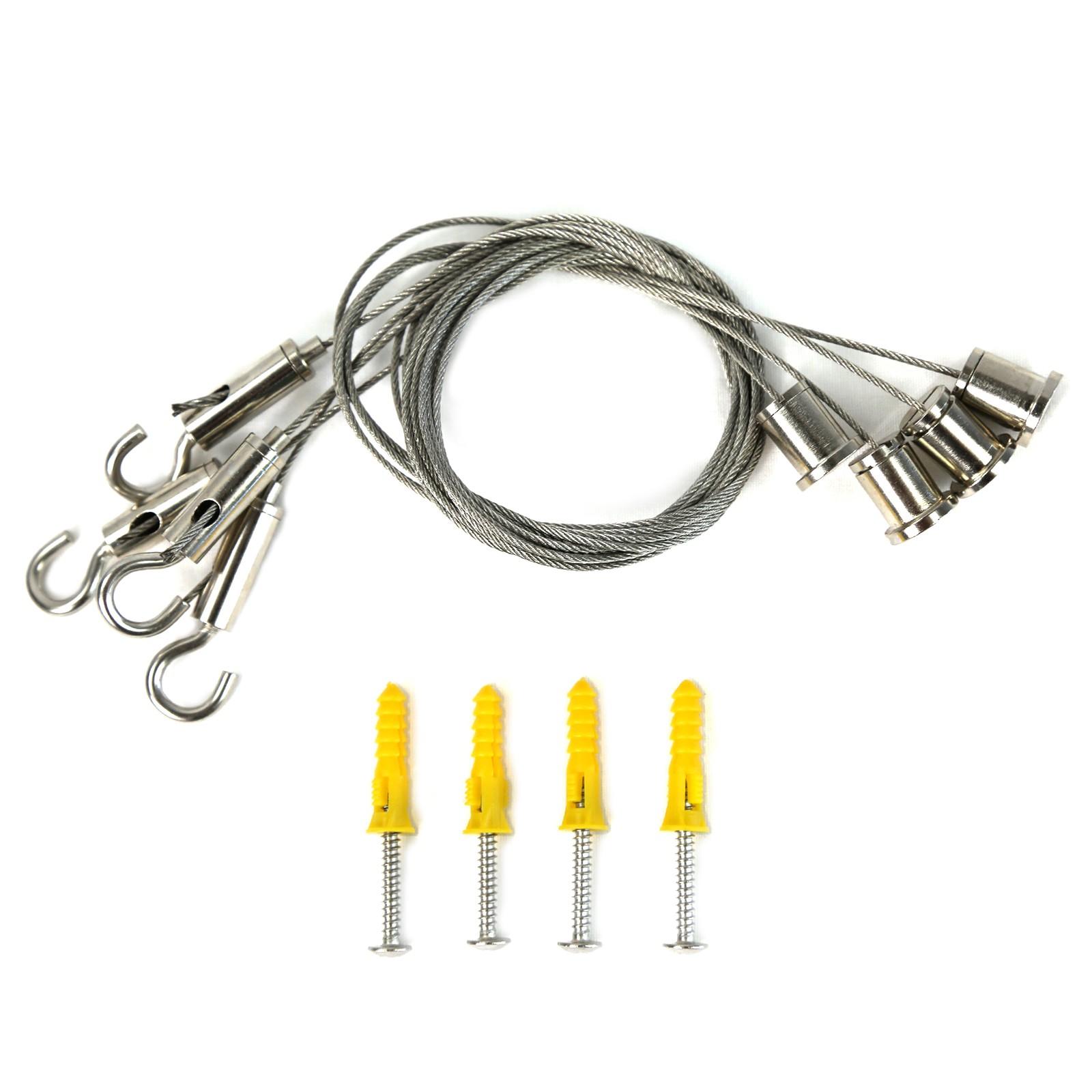 Aufhängeset Drahtseil für LED Pendelleuchte Panel Montageset ...