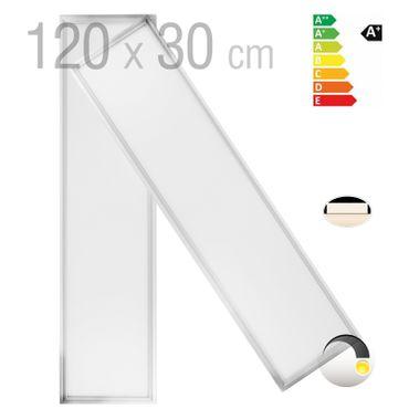 OUBO 120x30cm Ultraslim LED Panel NW/WW/KW 36W/48W Silber-/Weissrahmen Deckenleuchten