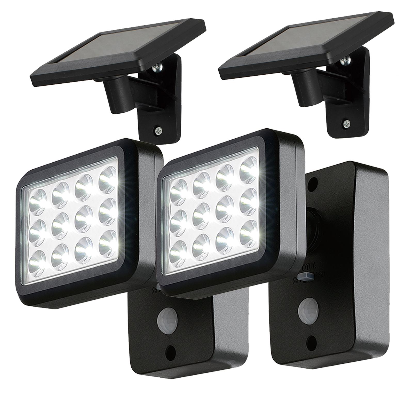 OUBO 2x LED Solar Leuchten Haus Garten Lampe Solarleuchte Solarlampe ...