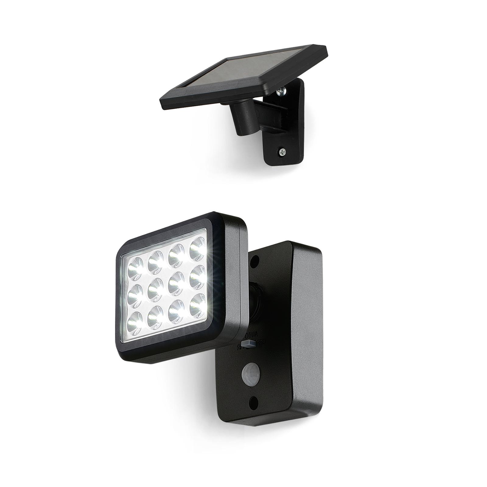 oubo solar leuchte mit bewegungsmelder 12x leds. Black Bedroom Furniture Sets. Home Design Ideas