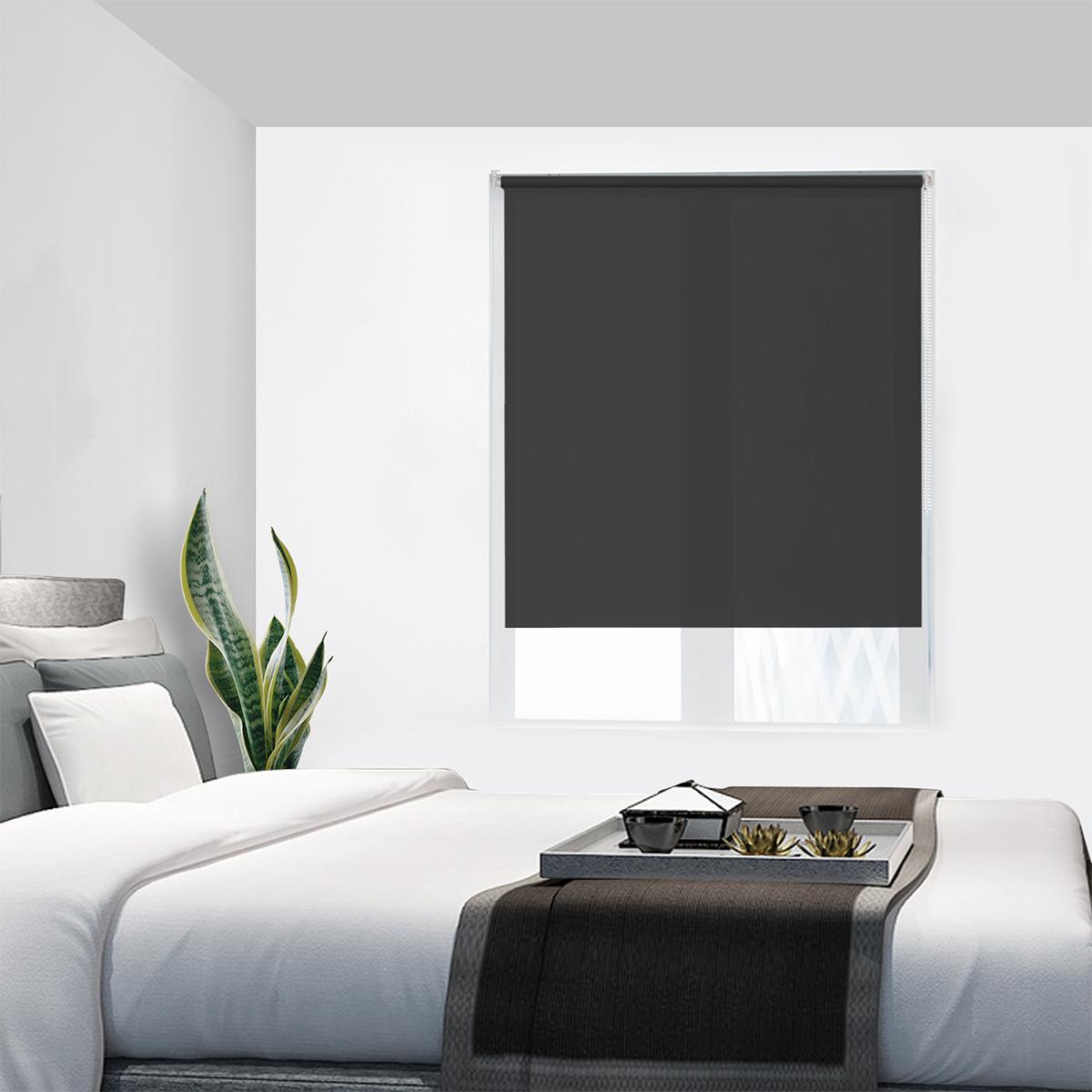 tageslichtrollo verdunkelungsrollo klemmfix ohne bohren seitenzug fenster rollos ebay. Black Bedroom Furniture Sets. Home Design Ideas