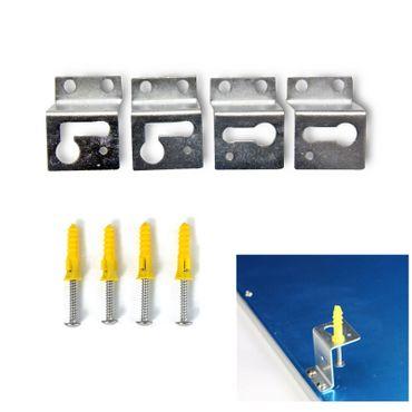 Montagematerial LED Panel Anbauset für Wand- und Deckenmontage Winkel