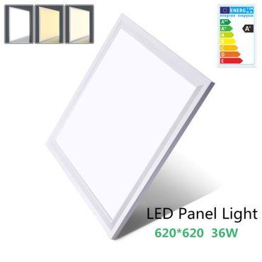 OUBO 62x62cm Ultraslim LED Panel NW/WW/KW 36W Silber-/Weißrahmen Deckenleuchten