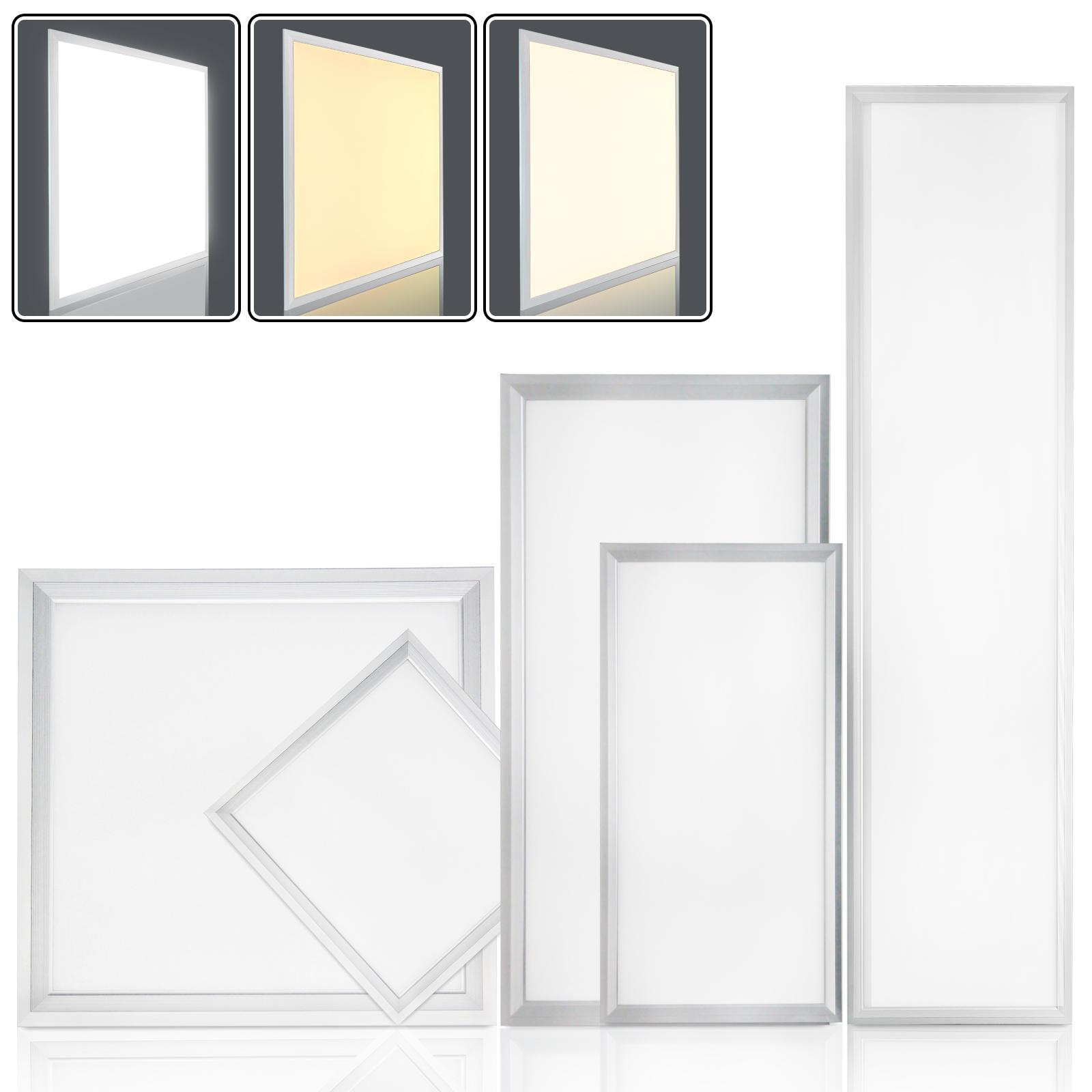 led panel ultraslim deckenleuchte deckenlampe wandleuchte flach leuchte k che ebay. Black Bedroom Furniture Sets. Home Design Ideas