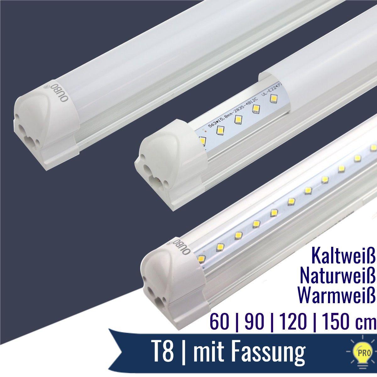 led lampen mit fassung t8