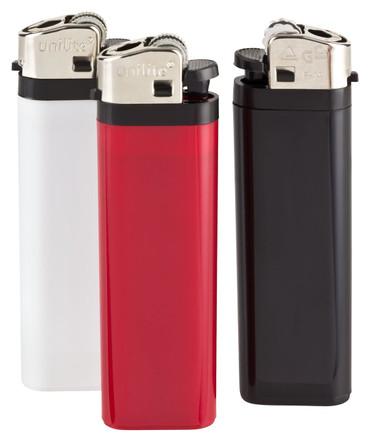 Feuerzeug bedruckt mit Fotodruck 1-seitig, auf weissem Kunststoff, individualisierbar mit Ihrem Foto, Logo oder Text – Bild 2