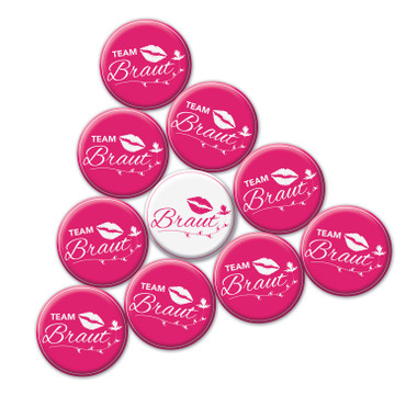 10 er Set JGA Buttons, Jungesellinenabschied Hen Party Anstecker – Bild 3