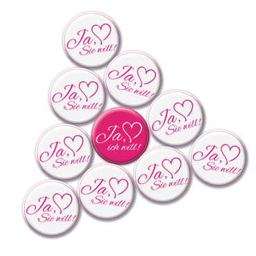 10 er Set JGA Buttons, Jungesellinenabschied Hen Party Anstecker – Bild 2