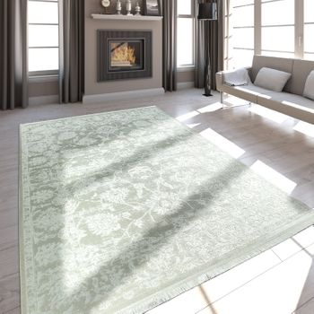 Fringes Rug Satin Look Cream