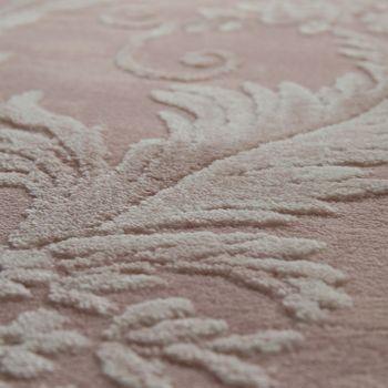 Di design Poliacrilico Tappeto Pregiato Elegante Moderno Vintage Effetto 3D Floreale Rosa – Bild 3