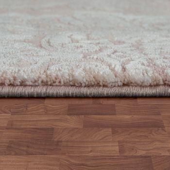 Designer Polyacrylic Rug High-Quality Elegant Modern Baroque 3D Effect Floral Pink – Bild 2