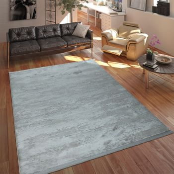 Designer Polyacrylic Rug Elegant Modern Shabby Chic Used Look Abstract 3D Effect Grey – Bild 1