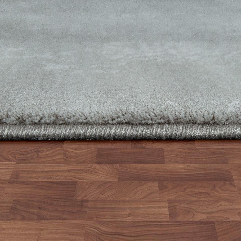 Vintage Effect Rug: Polyacrylic Rug Elegant Arabesques Pattern Grey