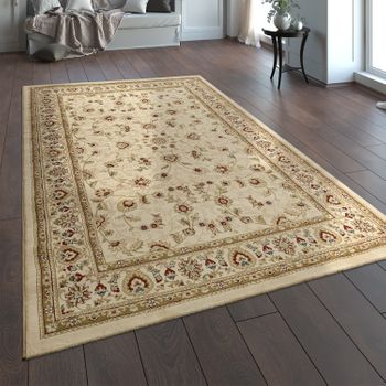 Oriental Rug Traditional Classic Look Persian Floral Cream Red – Bild 1