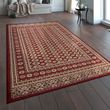 Oriental Rug Traditional Pattern Persian Red Beige 001