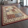 Oriental Rug Traditional Pattern Border Multicoloured 001