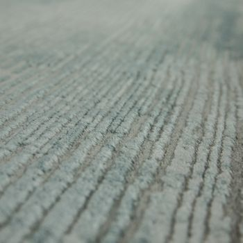 Living Room Rug Polyacrylic Yarn Shabby Chic Look Fringes 3D Effect Pastel Blue Grey – Bild 3