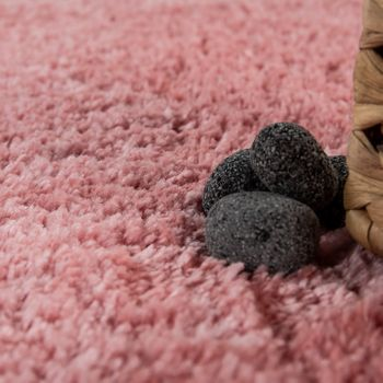 Modern Bathroom Carpet One Colour Microfibre Cuddly Cosy In Pink – Bild 3