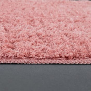Modern Bathroom Carpet One Colour Microfibre Cuddly Cosy In Pink – Bild 2